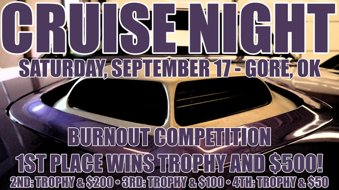 Gore Cruise Night Scheduled for September 17th