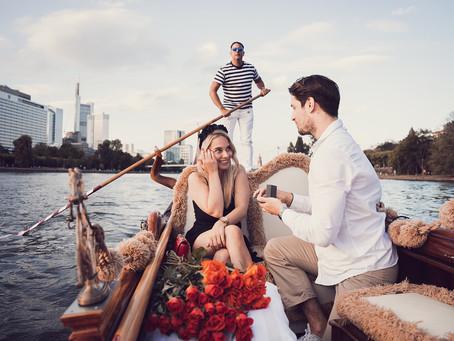 Romantischer Heiratsantrag in Frankfurt:  La Dolce Vita auf dem Main!