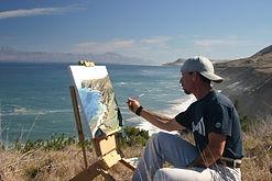 Plein Air oil painting, channel Islands, dave gallup, seascape, landscape