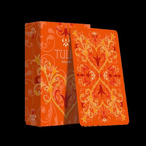 Tulip Playing Cards- Orange borderless