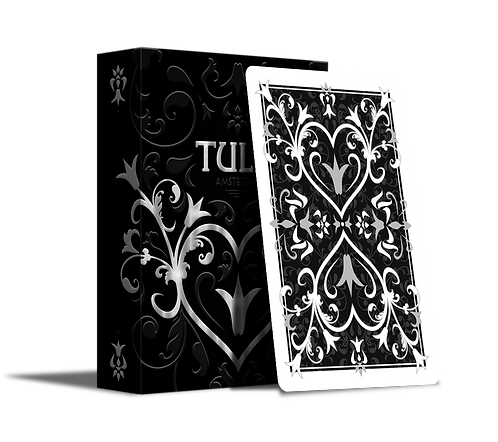 Tulip Playing Cards - Black