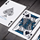 Thumbnail: Paisley Playing Cards - French Blue numbered seal