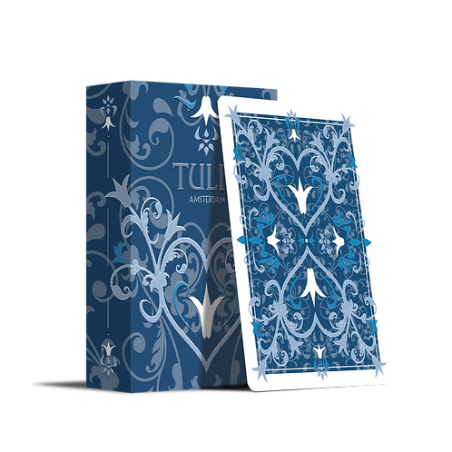Tulip Playing Cards - Dark Blue