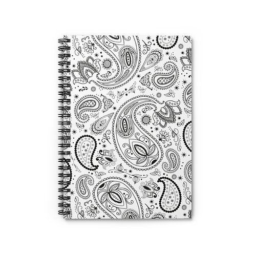 Paisley Spiral Notebook - Ruled Line