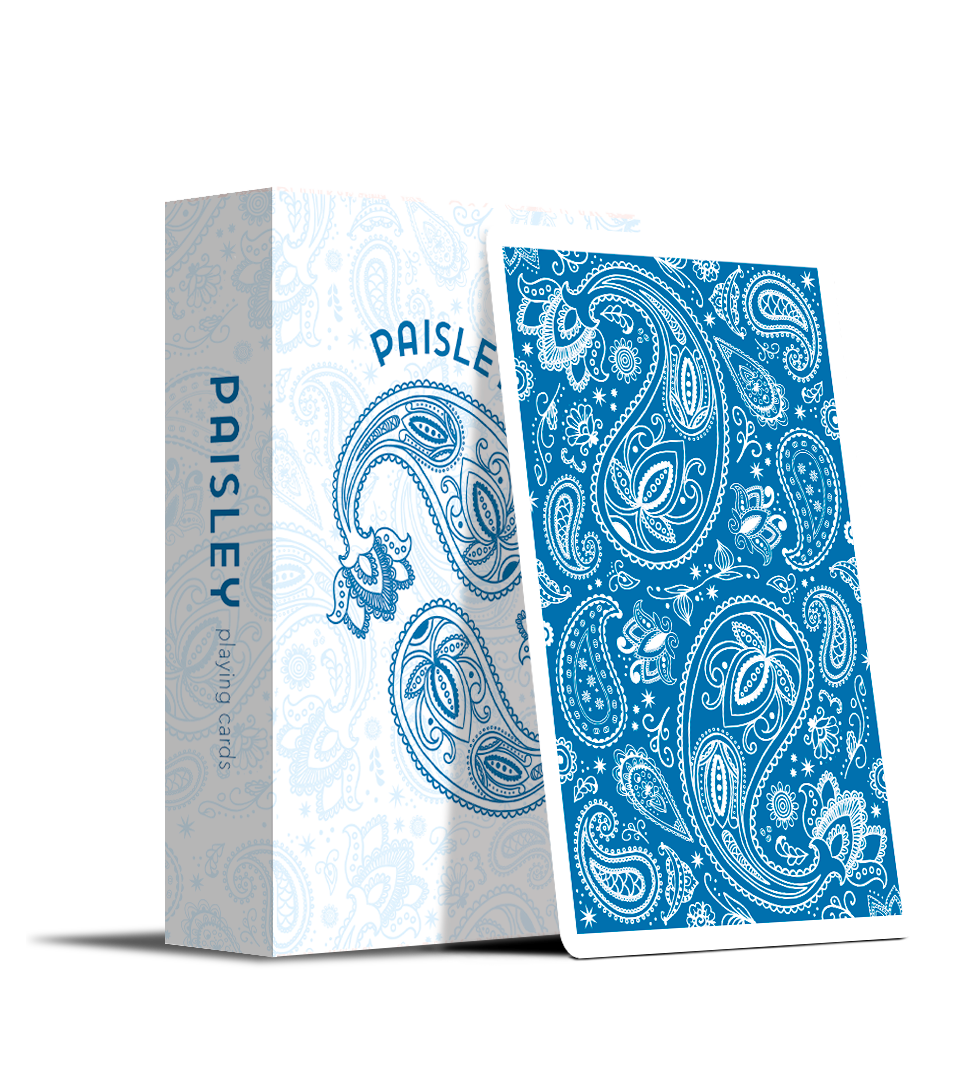 Playing Cards by Dutch Card House Company French Blue Limited Edition Paisley