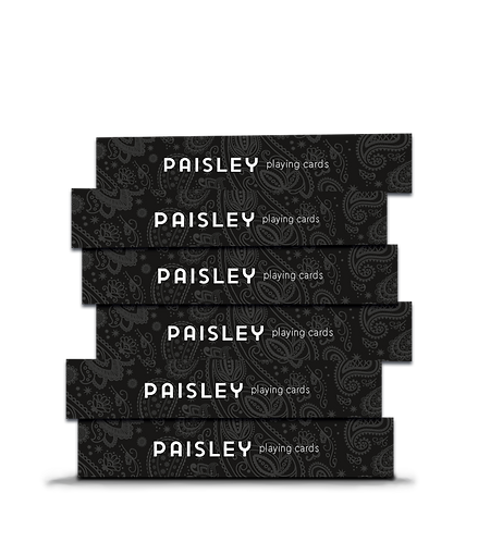 Paisley Playing Cards Black - Brick 12 decks   with marking system