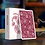 Thumbnail: Paisley Playing Cards - Ruby Red numbered seal