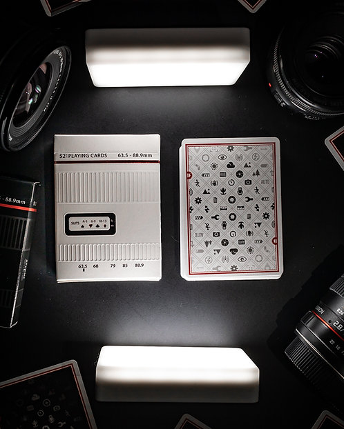 Shooters Playing Cards - White Special Edition