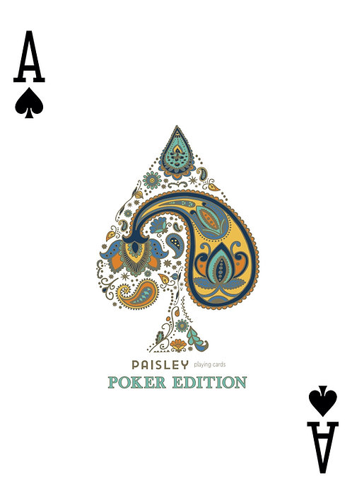 Ace of Spades Poker Blue .pdf for poster print