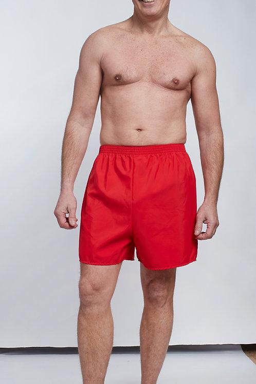 Short de bain rouge homme