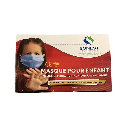 Boites de 50 masques chirurgicaux enfants
