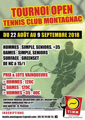 Tournoi Open du 22 août au 9 septembre