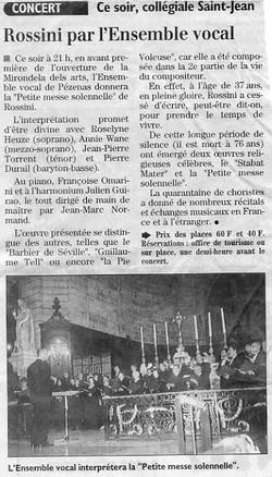 1er Juillet 2000