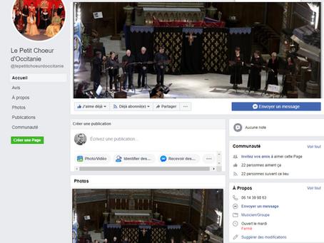 Nouveau : Suivez notre page Facebook !
