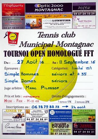 Premier tournoi homologué au Tennis Club Montagnacoic
