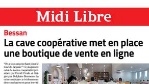 Article Midi Libre : Site e-commerce Le Rosé de Bessan