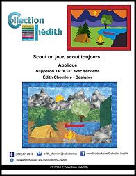 Patron de napperon avec serviette - Appliqué - Courtepointe - Patchwork - Scout - Camping - Collection Inédith