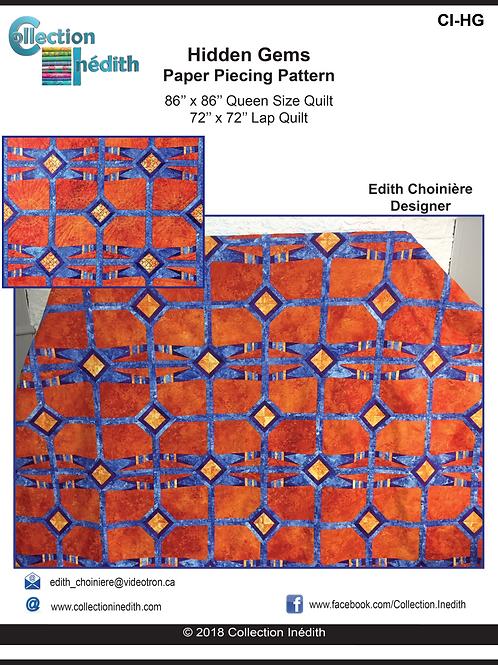 Hidden Gems - Paper Piecing Pattern with FMQ design