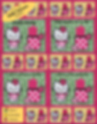 Unique Hello Kitty Placemat pattern with napkins - Appliqué - Quilt - Collection Inedith