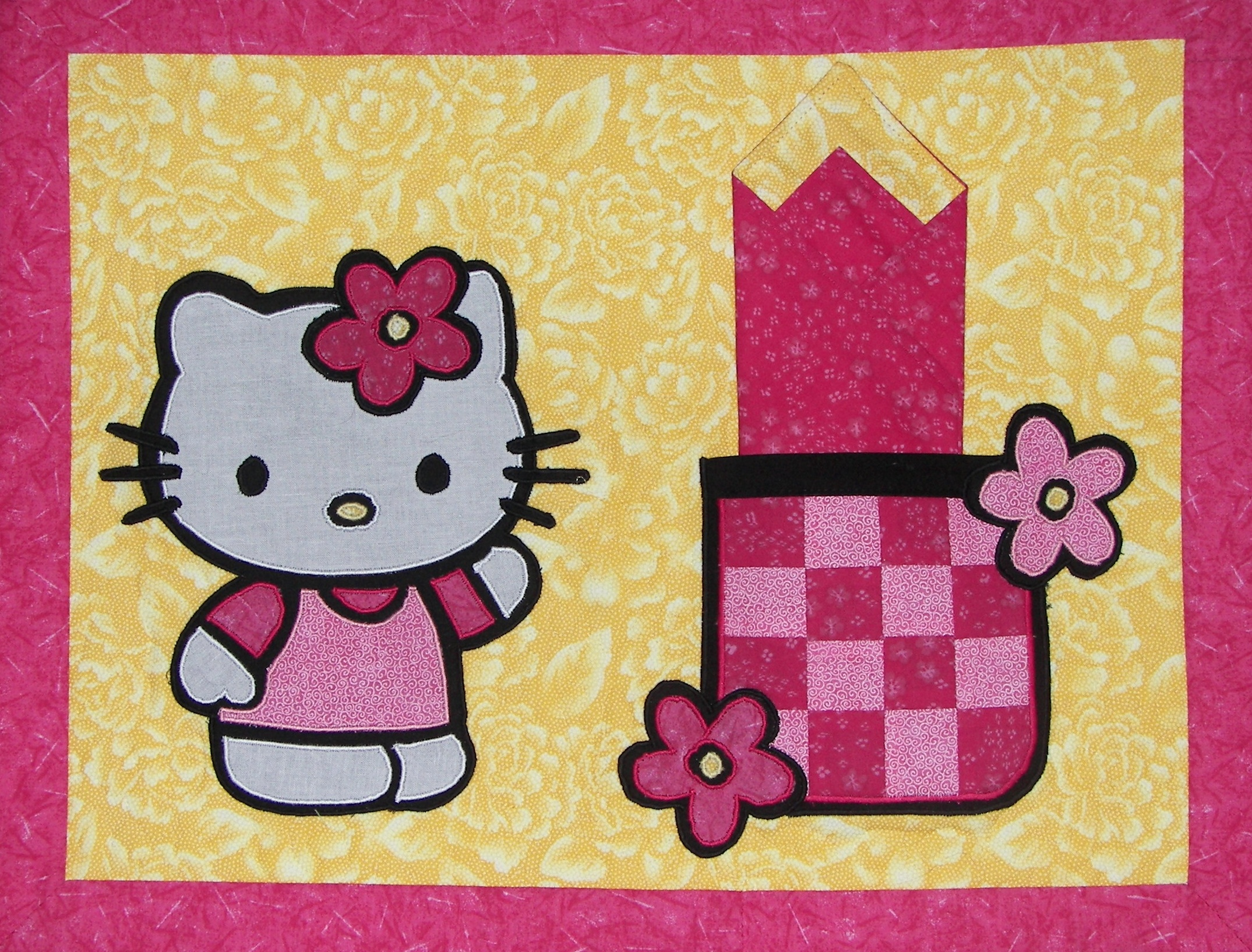 Placemat Hello Kitty jaune