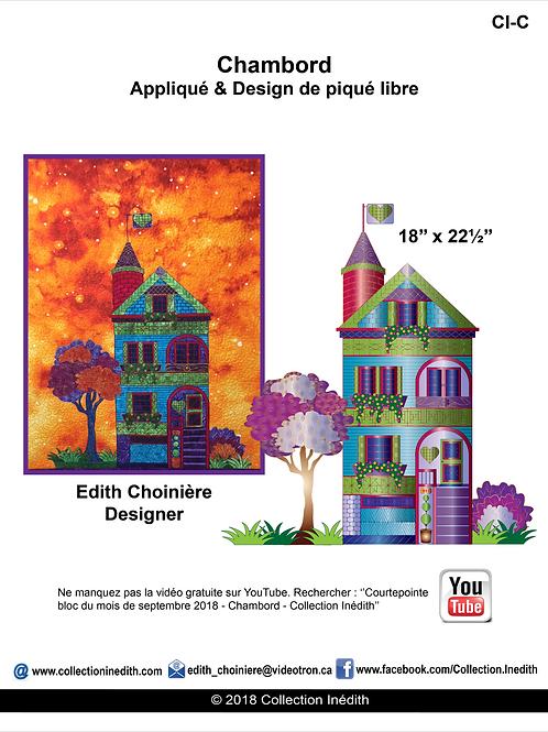 Jolie maison ''Chambord'' - Appiqué avec design de piqué libre