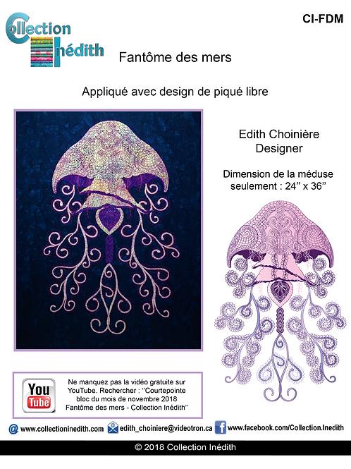 Fantôme des mers - Méduse - Appiqué avec design de piqué libre