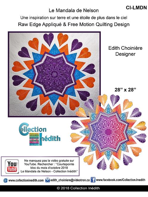 Le Mandala de Nelson - Appiqué avec design de piqué libre