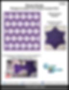 Patron de Courtepointe / Patchwork gratuit - Appliqué avec design de piqué libre