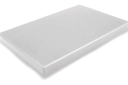 Planche à découper PEHD blanche 400x300x20 mm
