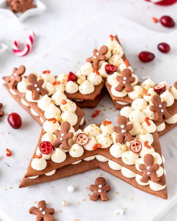 Etoile de Noël façon Number Cake 2H30