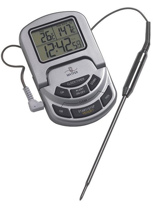 Thermomètre 0/300°C sonde + alarme MATFER