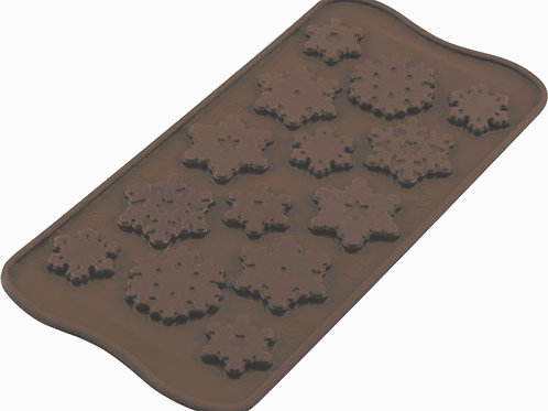 Plaque EASY CHOC 14 FLOCONS - SILIKOMART
