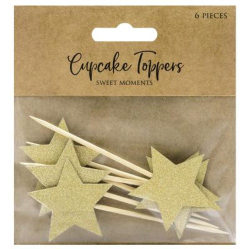 CUPCAKES TOPPERS ETOILES OR
