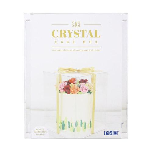 BOITE A GATEAU CRYSTAL 20x20x28 CM
