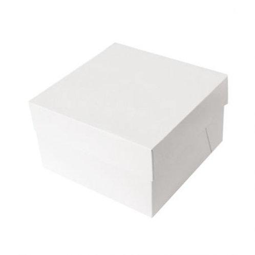 Boîte à gâteau blanche  28x28x15 cm