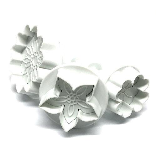 PME Flower Blossom Plunger Cutter set/4