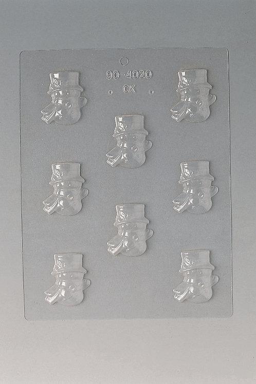 Plaque pour chocolat 240 x 185 mm - 8 bonhommes de neige