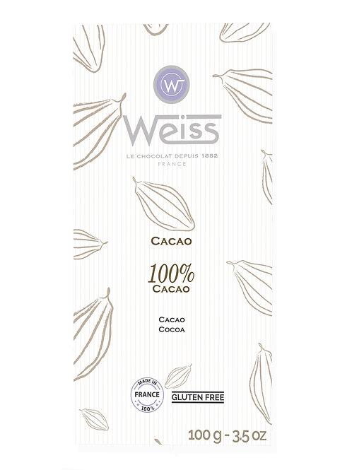 Tablette de chocolat 100% cacao 100g