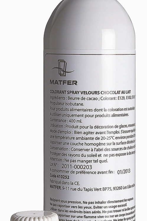 Spray velours chocolat au lait 400 ml MATFER