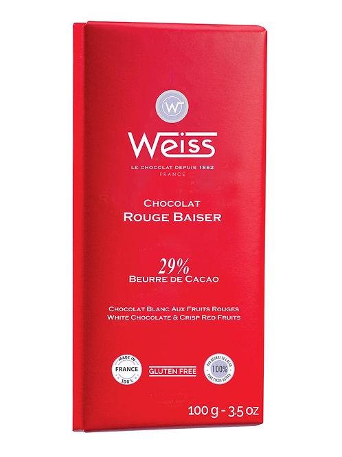 Tablette de chocolat Rouge Baiser 100g