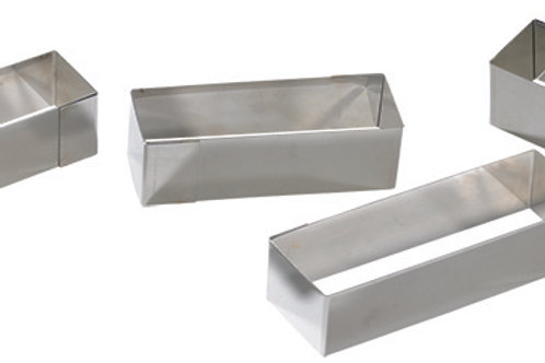 NONNETTE RECTANGLE INOX 8 x 3 x 3