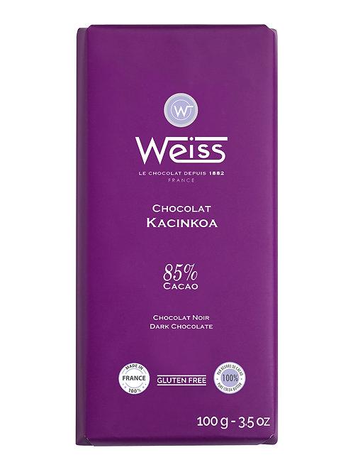 Tablette de chocolat KACINKOA 85% 100g
