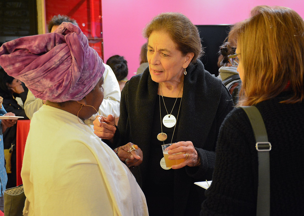 Mary Miss of City as a Living Lab talks to a summit attendee  at the National Consortium for Creative Placemaking's National Creative Placemaking Leadership Summit in College Park, Maryland  in early October, 2018