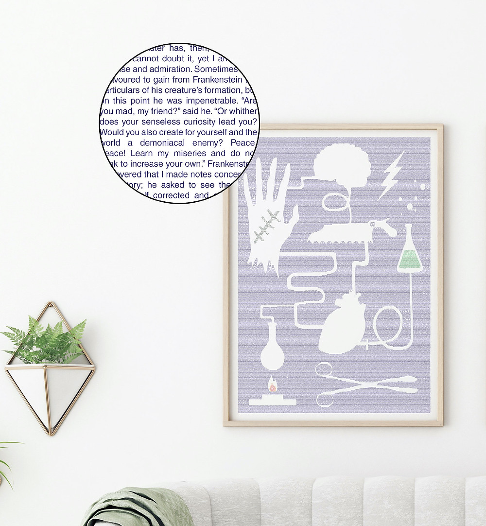 Frankenstein words poster