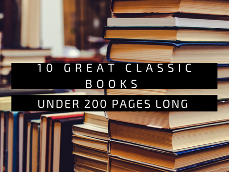 10 Great Classic Novels Under 200 Pages