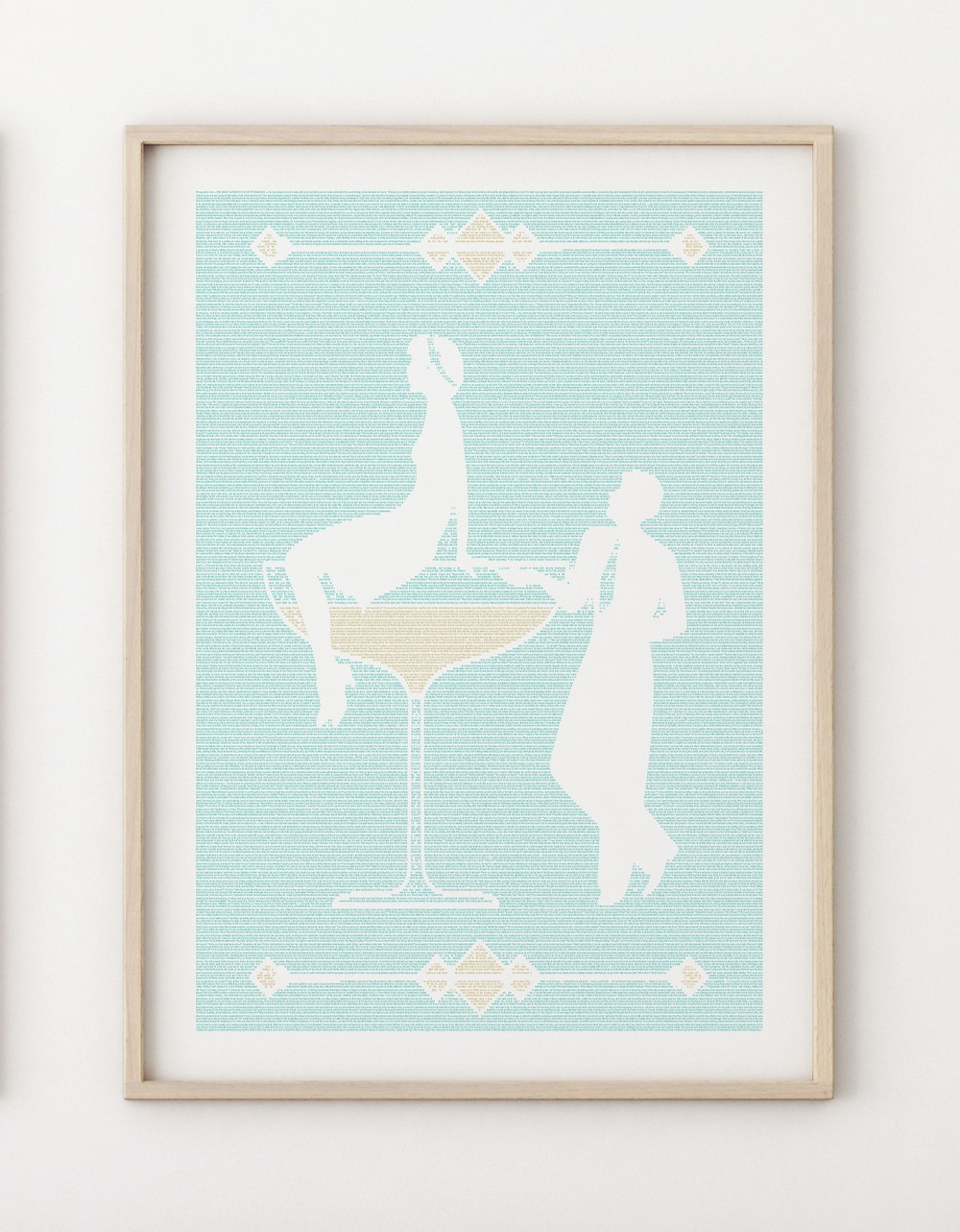 The Great Gatsby word poster