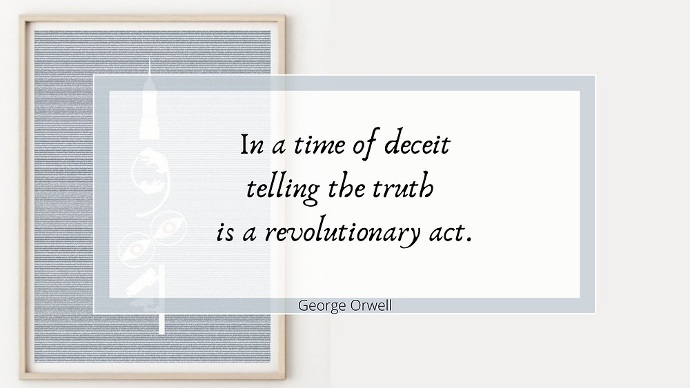 George Orwell inspirational quote