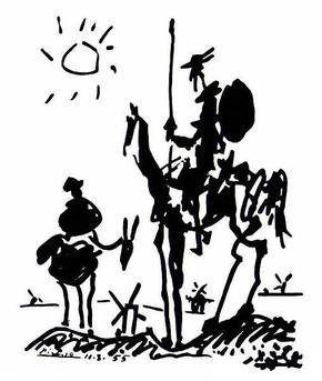picasso Don Quixote sketch