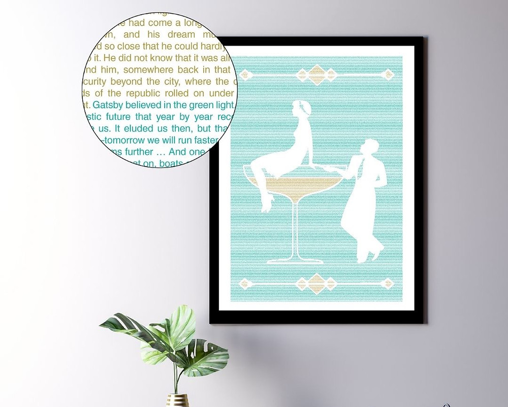 The Great Gatsby book poster