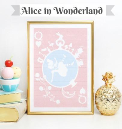 Alice's adventures in wonderland book poster